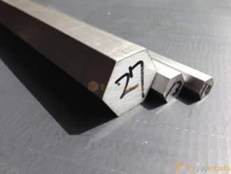 寸切 六角形 アルミニウム A2011 - 六角