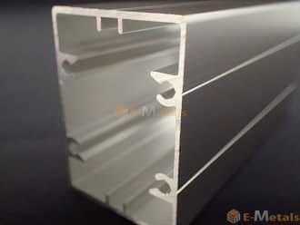 標準寸法 ビスホール材 アルミ建材/板材 A6063S-T5 角パイプビスホール材 1.2mm ステンカラー(ツヤ消)