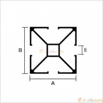 標準寸法 アルポール アルミ建材/板材 A6063S-T5 アルポール シルバー