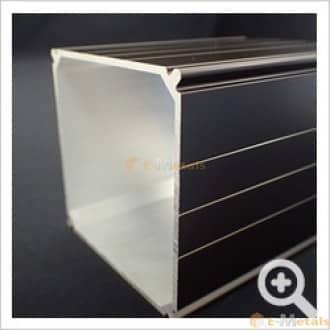 標準寸法 エクステリア材(バルコニー柱) アルミ建材/板材 A6063S-T5 エクステリア材(バルコニー柱) ブロンズ(ツヤ消)