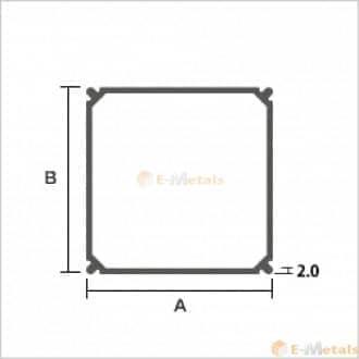 標準寸法 エクステリア材(バルコニー柱) アルミ建材/板材 A6063S-T5 エクステリア材(バルコニー柱) ブラック(ツヤ消)