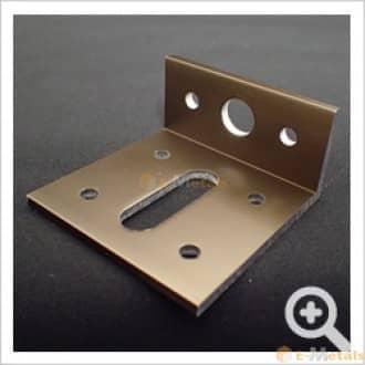 標準寸法 アングル アルミアングルピース 穴あり(8穴50mm) ブロンズ(ツヤ消し)