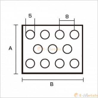 標準寸法 パンチング アルミパンチング A1100-H14 5φ×8P
