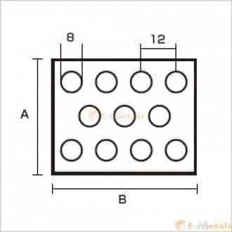 標準寸法 パンチング アルミパンチング A1100-H14 8φ×12P