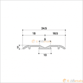 標準寸法 ウイングレール アルミ(メーカー品) フロアレール(ウイングレール) ウイングレール35S 木目ナチュラル