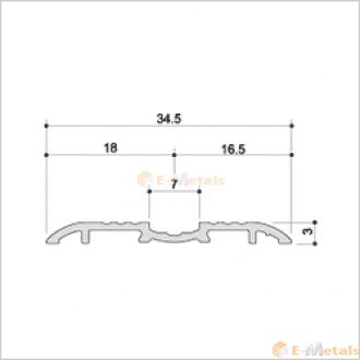 標準寸法 ウイングレール(脱輪防止タイプ) アルミ(メーカー品) フロアレール(ウイングレール) ウイングレール35DS(脱輪防止タイプ) 木目ナチュラル