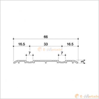 標準寸法 ウイングレール(脱輪防止タイプ) アルミ(メーカー品) フロアレール(ウイングレール) ウイングレール66DW(脱輪防止タイプ) ブロンズ(艶消し)