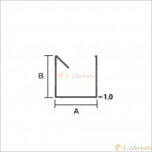 アルミ建材/板材 A6063S-T5  エクステリア材(母屋材)