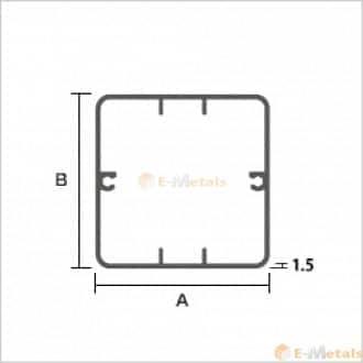 関連商品 エクステリア(テスラ柱) アルミ建材/板材 A6063S-T5 エクステリア材(テラス柱) シルバー