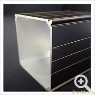 エクステリア(テスラ柱) アルミ建材/板 材 A6063S-T5 エクステリア材(テラス柱) ブラック(ツヤ消)