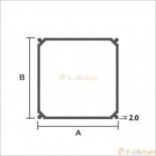 アルミ建材/板材 A6063S-T5  エクステリア材(バルコニー柱)