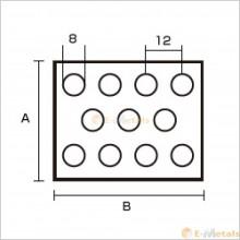 アルミパンチング A1100-H14  8φ×12P