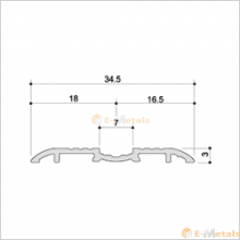 アルミ(メーカー品) フロアレール(ウイングレール)  ウイングレール35DS(脱輪防止タイプ)