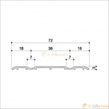アルミ(メーカー品) フロアレール(ウイングレール)  ウイングレール72DW(脱輪防止タイプ)
