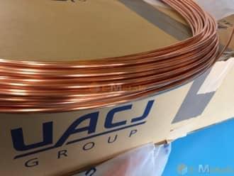 標準寸法 丸パイプ 銅 銅管(コイル管) - C1220TD-O